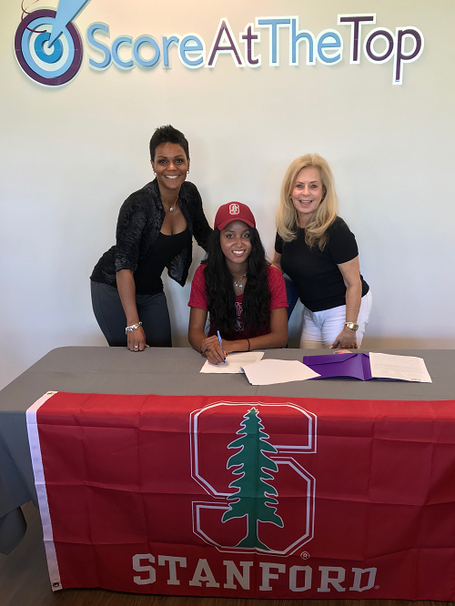 Angelica Blake signing her intent to attend Stanford