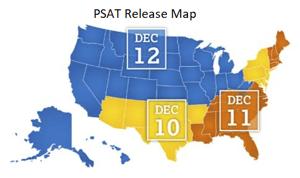 PSAT Test Release Schedule 2018-1