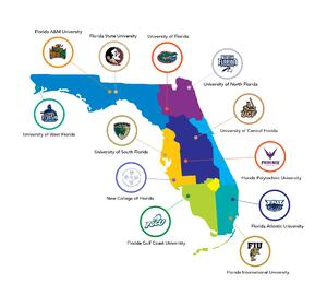 Map of Florida's state universities
