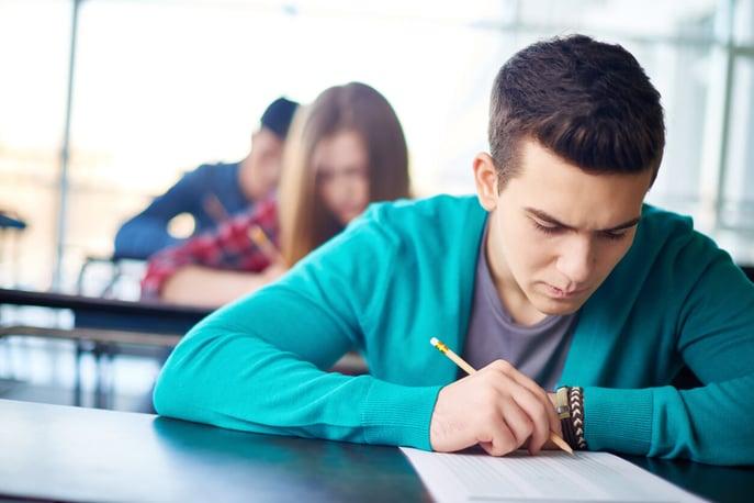 Student Taking PSAT Test