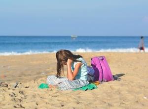 summer school at the beach