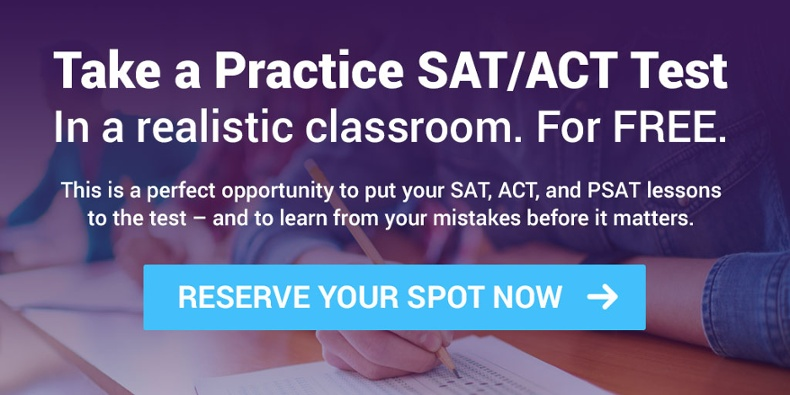 Take a practice SAT/ACT Test for FREE