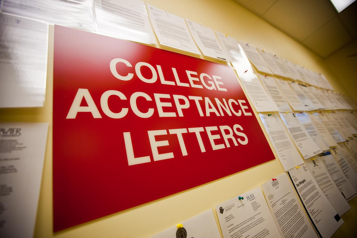 College Acceptance - Score At The Top